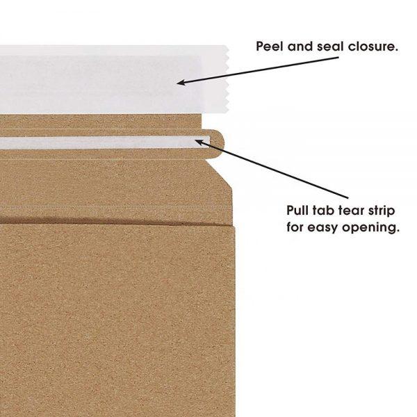 brown shipping envelope