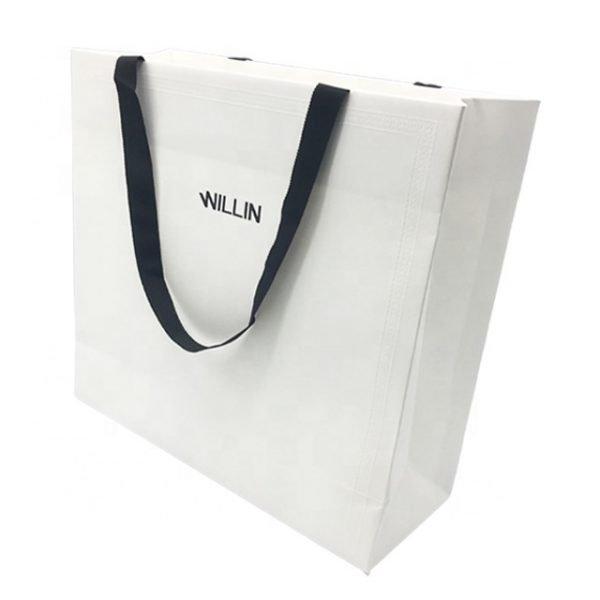 White Textured Bag