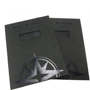 Black Textured String Envelope